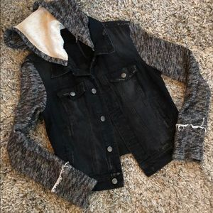 Free People denim and knit jacket